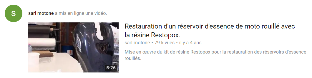 Reservoir rouille